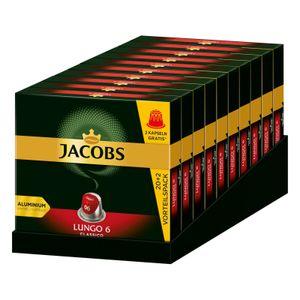 JACOBS Kapseln Lungo 6 Classico 10 x 20+2 Nespresso®* kompatible Kaffeekapseln