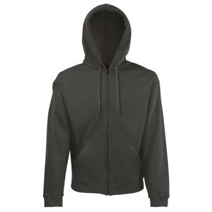 Fruit of the Loom Classic Hooded Sweat Jacket, Farbe:graphit, Größe:L