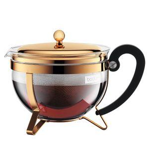 Bodum Teekanne mit Filter Chambord Gold 1,3 Liter