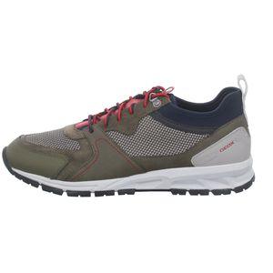 Geox Herren Sneaker Sneaker Low Leder-/Textilkombination grün 44
