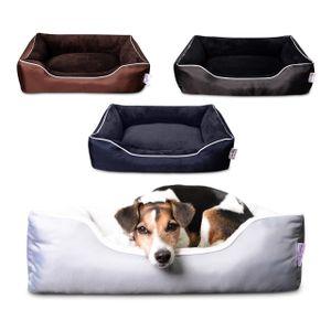 Tante Hilde Hundebett Hooge für kleine Hunde | Waschbar und Mega Kuschelig | 60 x 50 cm Blau