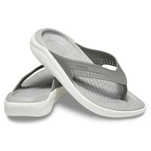 Crocs LiteRide Flip Unisex Sandale Zehentrenner Badelatsche 205182, Schuhe:43/44 EU