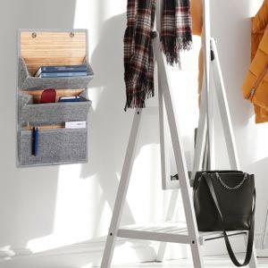 relaxdays 1 x Wandorganizer Zeitungshalter hängend Türorganizer Magazine und Post 3 Fächer