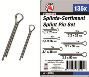 KRAFTMANN 88138 Splinte-Sortiment 135-tlg.