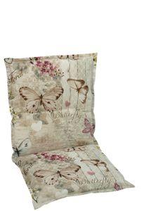 GO-DE Textil, Sesselauflage nieder, Schmetterling beige, 19228-02