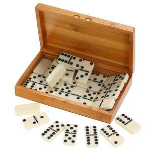 Doppel-Sechs-Domino-Set Unterhaltung Freizeitspiel Spiel Spielzeug Black Dots Domino