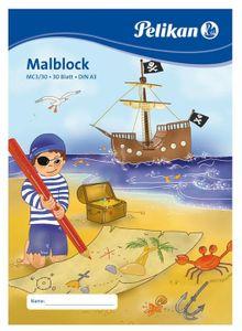 Pelikan Malblock MC 3/30 DIN A3 70 g/qm 30 Blatt Pirat oder Fee  (1 Block)