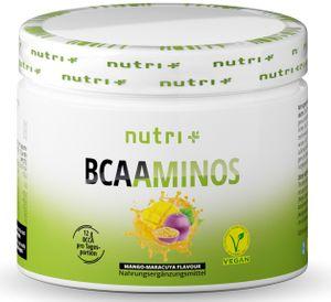 BCAA POWDER MANGO-MARACUJA - Aminosäuren Mix hochdosiert - Vegan - BCAAs Instant Pulver - Branched-Chain Amino Acids - Aminosäure Nahrungsergänzung 300g - Aminosäurepulver