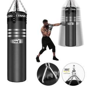 Boxsack MMA Sandsack Set Boxpartner Punching Bag Trainer Ø35cm H113cm 【Ungefüllt】