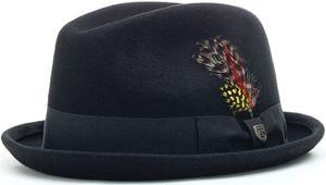 Brixton Gain Fedora Hut Farbe: Schwarz, Grösse: XL