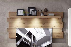 Loft-Two Wandpaneel inkl. LED-Beleuchtung Weiß / Artisan Eiche
