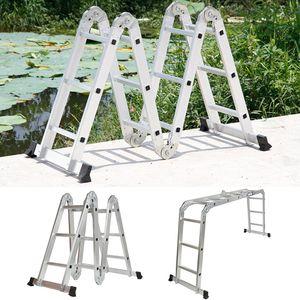 Mehrzweckleiter Aluminium Verstellbar Klappleiter Gelenkleiter Leiter Stehleiter Leitergerüst Arbeitsbühne