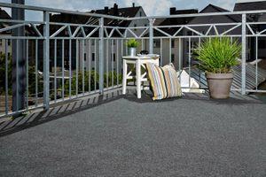Kunstrasen Grau Rasenteppich 200 x 400 Noppen Fertigrasen Balkon 10€/m² Meterware