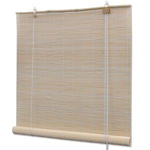 Jalousie - Naturfarbenes Bambusrollo 100 x 160 cm - Fenster Lamelle Modern Design