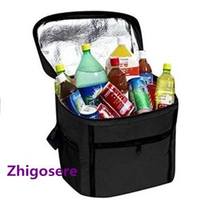 (Schwarz)27cm*17cm*24cm Kühltasche Isoliert Kühlbox  Isoliertasche Kühlkorb Camping Picknicktasche