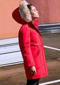 s.Oliver Parka schwarz rot in Rot, Größe