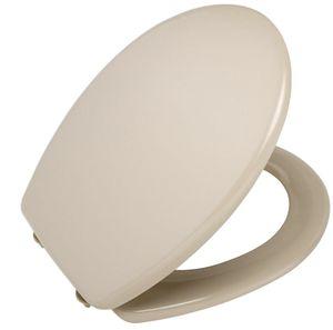 WENKO 123097100 WC-Sitz Topas - Fix-Clip Hygiene Kunststoffbefestigung, antibakteriell, Duroplast, beige
