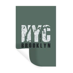 Wandaufkleber - New York - NYC - Groen - 80x120 cm - Repositionierbar