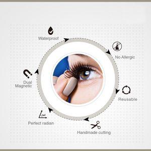 ZQYRLAR Magnetic Eyelashes Kit, dichte magnetische falsche Wimpern, wiederverwendbare weiche 3D-falsche Wimpern, ohne Kleber die gesamten Augenlider für Damen, Frauen, natürlicher Look (schwarz, 4 STÜCKE)
