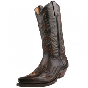 Sendra Pythonleder Cowboystiefel 4250 marron, Schuhgröße:EUR 41