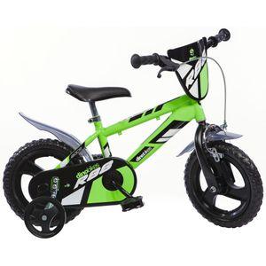 Jungen Kinderfahrrad  – 12 Zoll MTB R88 Jungenfahrrad| Original Kinderrad mit Stützrädern - Das Fahrrad als Geschenk für Jungen - Grün