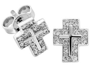 trendor 64444 Silber Ohrstecker Kreuz