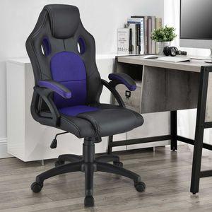 Juskys Racing Schreibtischstuhl Montreal (violett) ergonomisch, höhenverstellbar & gepolstert, bis 120 kg - Bürostuhl Drehstuhl PC Gaming Stuhl