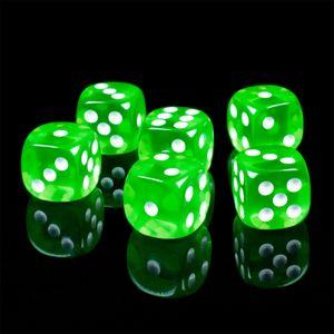 Shibby - 6 Spiel Würfel für Brett - Rollen und Tabletopspiele in grün