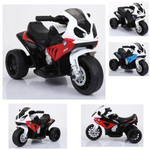 Kinderfahrzeug - Elektro Kindermotorrad - Dreirad - Lizenziert von BMW - Modell 188-Rot