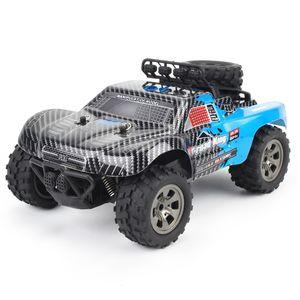 55KM / H 2.4G 100 Meter Fernbedienung RC Car Truck Buggy Rock Crawler Hochgeschwindigkeits-Geländewagen 1:18 Leistungsstarker Motor
