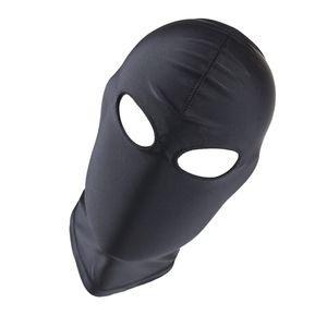 atmungsaktives Gesicht der Unisex-Männerfrauen-Gesichts-Elasthanvollkopf-Maskenhaube 03 Einheitsgröße Schwarz Masken