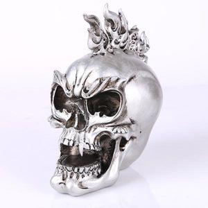 Silber Künstliche Schädel Figur Totenkopf Modell Dekofiguren