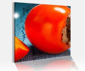 Acrylglasbild 50x50cm Kaki Kakis Küche Cafe Obst Frucht   Acrylbild Bilder Acrylglas Acrylglasbilder 14A4742