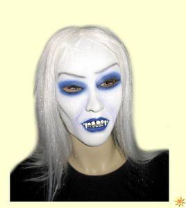 Gothic Vampir Lady Maske mit Haar