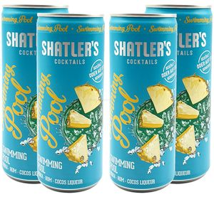 Shatlers Cocktail - 4er Set Shatlers Swimmingpool 0,25L (10,1% Vol) inklusive Pfand EINWEG - Shatlers Cocktail - Ready to Go- [Enthält Sulfite]