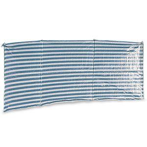 Windschutz Sichtschutz 400 x 135 cm blau/weiß für Strand Zelt Sonnenschutz