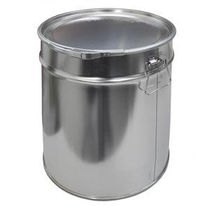 30 Liter Weißblecheimer Hobbock inkl. Deckel mit Spannring | Stabile Seitliche Metallgriffe | Luft und Flüssigkeitsdicht | Robust und Stapelbar | Gefahrgut Tauglich | Verzinntes Stahlblech