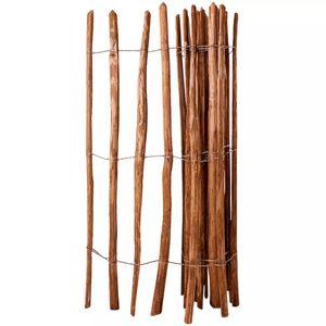 vidaXL Staketenzaun Haselnussholz 150 x 250 cm