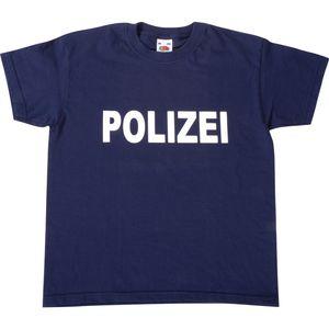 EDUPLAY 230055 Kinder T-Shirt 'Polizei', 100% Baumwolle, 116, dunkelblau (1 Stück)