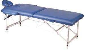 Massageliege Alu-Gestell mobile Massagebank klappbar höhenverstellbar gepolstert mit Tragetasche