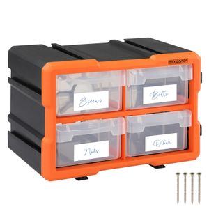 Monzana Kleinteilemagazin Sortimentskasten erweiterbar verschiedene Größen Sortierbox für Kleinteile Aufbewahrungsbox , Anzahl Fächer:8 Fächer groß