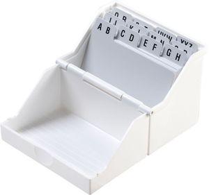 Helit H6214805 Kleinkartei für 200 Karten, gefüllt, DIN A8, quer, weiß