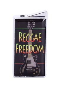 """FEUERZEUG """"Reggae"""" Gas Metall Piezozündung Original Geschenk schwer 91 (Reggae Freedom)"""