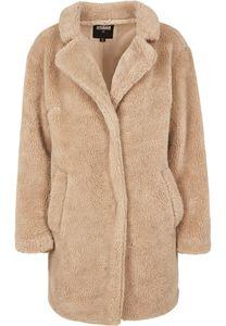 Urban Classics Damen Ladies Oversized Sherpa Coat TB3058, color:sand, size:S