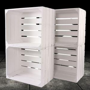 4 neue weiße Obstkiste 50cm x 40cm x 30cm Holzkisten Standard Set Weinkisten Geschenkkiste Geschenk Box Regal klassisch DIY natur