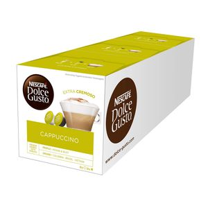 Nescafe Dolce Gusto Cappuccino Aroma versiegelte Kapseln 186g 3er Pack