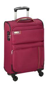 Koffer XL Pink Leicht 3,2 kg 77x47x33cm + Erweiterbar Nylon Stoff Reise Trolley Bowatex