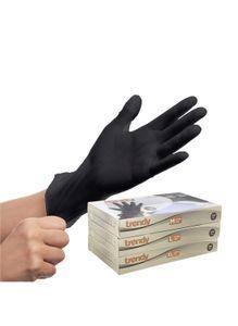 100 TPE Einweg Handschuhe Schwarz Einmalhandschuhe puderfrei Latexfrei Größe XL