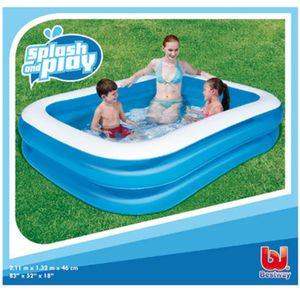 Bestway Schwimmbecken Rechteckig 211x132x46 cm Blau
