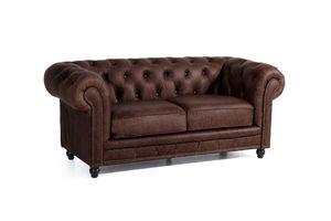 Max Winzer Orleans Sofa 2-Sitzer - Farbe: braun - Maße: 196 cm x 100 cm x 77 cm; 2911-2100-9370001-F07
